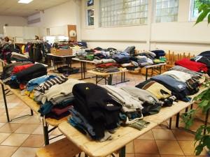Gespendete Winterkleidung für unsere Flüchtlinge. (c) C. Bruha